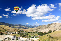 The scenery of Yellowstone National Park stock photography
