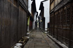 The scenery of Yuehe ancient town at Jiaxing, China. Stock Photos