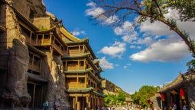 Yungang grottoes. Scenery of yungang grottoes in shanxi province, china Royalty Free Stock Photos