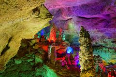 Karst cave royalty free stock photography