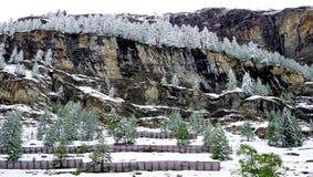 Scenery of Zermatt snow mountains Stock Image