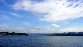 Scenery of zurich lake Stock Photos