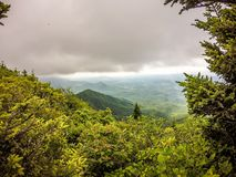 Scenes along appalachian trail in smoky mountains north carolina Royalty Free Stock Image