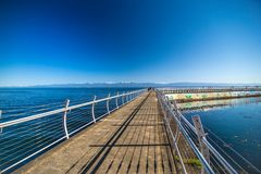 Scenes around Ogden Point cruise ship terminal in Victoria BC.Canada royalty free stock images