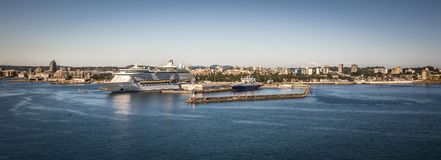 Scenes around Ogden Point cruise ship terminal in Victoria BC.Ca royalty free stock images
