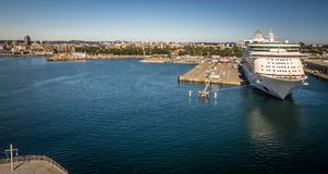 Scenes around Ogden Point cruise ship terminal in Victoria BC.Canada royalty free stock photos