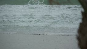 Scenes on the Beach as a Storm Approaches (2 of 6) stock footage