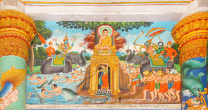 Scenes from Buddha's life Stock Photos