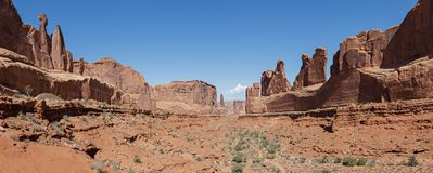 Scenes From Utah. Park Avenue In Arches National Park Stock Photo