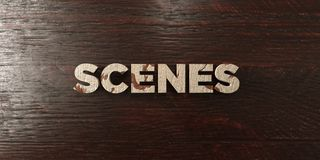 Scenes - grungy wooden headline on Maple  - 3D rendered royalty free stock image Royalty Free Stock Image