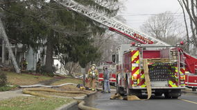Scenes from a House Fire (4 of 12) stock footage