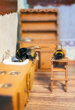 Scenes from the life of bumblebee family. Royalty Free Stock Image