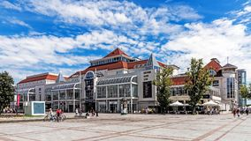 Scenes from the main promenade. In Sopot. The city is a major health-spa and tourist resort destination in Poland with the longest wooden pier in Europe at 515 Stock Photos