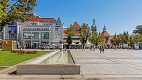 Scenes from main promenade in Sopot. SOPOT, POLAND - AUGUST 17, 2015: Scenes from main promenade in Sopot. The city is a major health-spa and tourist resort Stock Photo