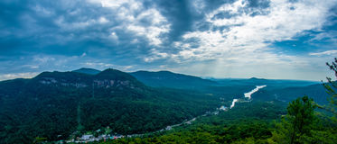Scenes near chimney rock and lake lure in blue ridge mountains n Stock Image