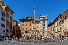 Scenes from the Piazza della Rotonda royalty free stock image