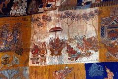 Scenes from the Ramayana Hindu myth Royalty Free Stock Image