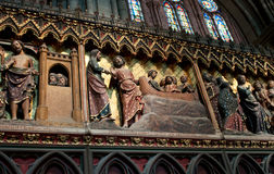 Scenes from a religious life in Notre Dame Stock Photo