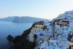 Scenes of Santorini, Greece. The clifftop village of Oia, Santorini Royalty Free Stock Images