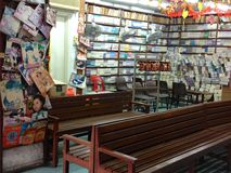 Scenes in Singapore China town - Book stores Stock Images