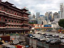 Scenes in Singapore China town - old and new Stock Photography