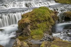 Hiking around Skogafoss. Scenes from Skogafoss and upriver Royalty Free Stock Photo