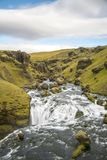 Hiking around Skogafoss. Scenes from Skogafoss and upriver Royalty Free Stock Images