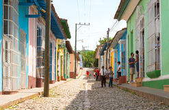 Scenes of Trinidad streets in Cuba Royalty Free Stock Photos