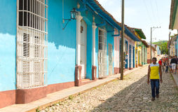Scenes of Trinidad streets in Cuba Stock Photo