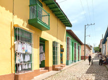 Scenes of Trinidad streets in Cuba Royalty Free Stock Photo