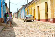 Scenes of Trinidad streets in Cuba Royalty Free Stock Image