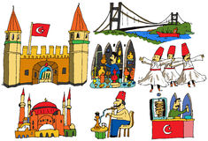 7 scenes from turkey Royalty Free Stock Photos