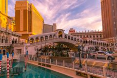 Venetian Hotel in Las Vegas Royalty Free Stock Images