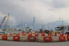 Scenes of West Kowloon street and cultural district. Royalty Free Stock Photo