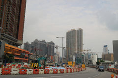 Scenes of West Kowloon street and cultural district. Royalty Free Stock Photography