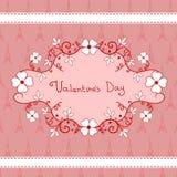 Scenetta romantica con i fiori, giorno di biglietti di S. Valentino Fotografie Stock