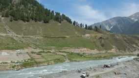 Sceney near Sonamarg. A scene in a Kashmir a mountain and the vast valley royalty free stock photo