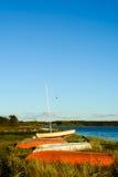 Scenic Aarhus Bay, Denmark - boats Stock Photography