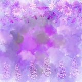 Scenic abstract floral background made with color filters,. Watercolor composition Stock Photos