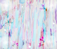 The scenic abstract floral background made with color filters,. Watercolor composition Stock Images