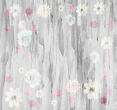 The scenic abstract floral background made with color filters,. Watercolor composition Royalty Free Stock Photography