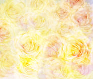 Scenic abstract floral background with roses Stock Photos