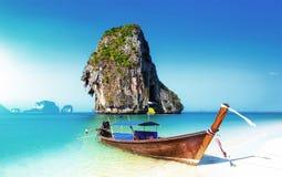 Scenic adventure background of amazing white sand beach on coast royalty free stock photos