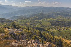 Scenic aerial Romanian panorama Royalty Free Stock Photo