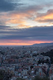 Scenic aerial view of the city of Barcelona in Spain Stock Image