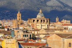 Palermo. Aerial view of the city. royalty free stock images