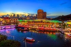 Clarke Quay Singapore Royalty Free Stock Photos