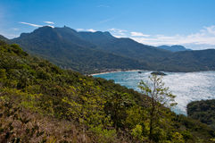Scenic Aerial View of Ilha Grande Island Royalty Free Stock Images