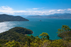 Scenic Aerial View of Ilha Grande Island Stock Photo