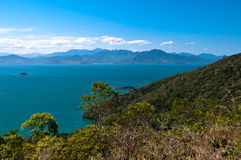 Scenic Aerial View of Ilha Grande Island Royalty Free Stock Photography